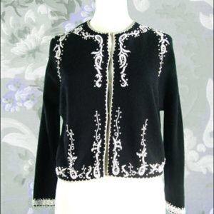 Sweaters - 1950s Dressy beaded sweater jacket